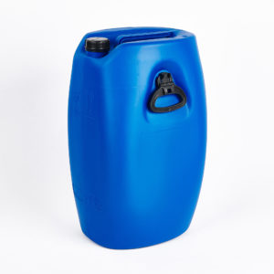 60 Ltr. PE-Kanister, blau mit zwei seitlichen Fallgriffen