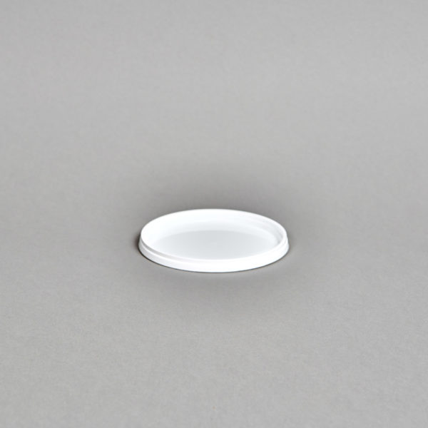 weißer Kunststoff-Schnappdeckel für Becher 870 ml