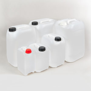Kunststoffkanister ohne Gefahrgutzulassung, incl. Verschraubung, Füllvolumen 5 und 30 Liter