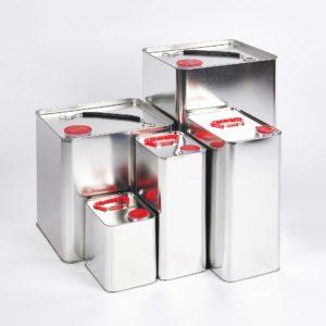 UN Weißblechkanister, innen und außen blank, incl. Balgverschluss, Füllvolumen 1 bis 30 Liter