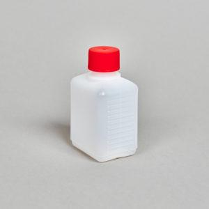 Kunststoff-Flasche, rechteckig, 50 - 250 ml, incl. Verschraubung