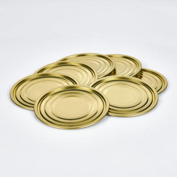 Falzboden neutral, 99 mm, innen weiß lackiert, außen gold