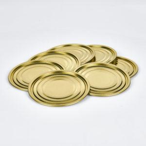 Falzboden neutral 73 mm, innen weiß lackiert, außen gold